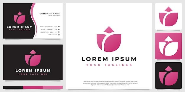 Logo rosa minimalista, stile moderno