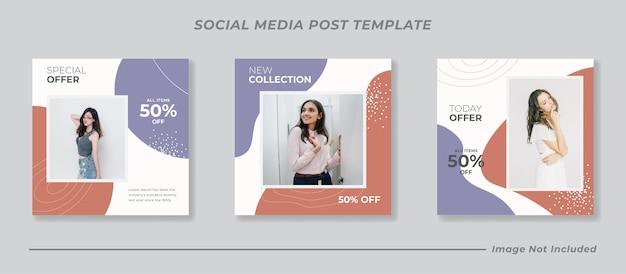 Banner di vendita minimalista per modello di post sui social media