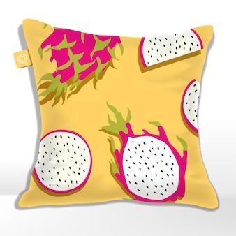 Combinazione rossa e gialla minimalista senza cuciture dragon fruit pattern, rosso e giallo