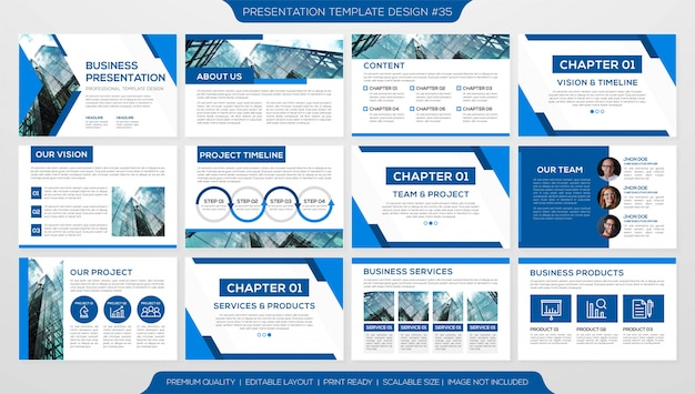 Modello di diapositive minimalista