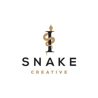 Simbolo di design del logo serpente minimalista