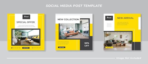 Pacchetto banner minimalista per social media instagram feed post