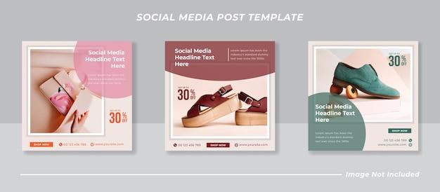 Raccolta di modelli di post sui social media minimalista