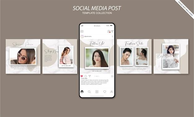 Modello di post sui social media minimalista