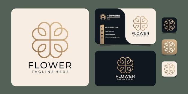 Logo minimalista della bellezza della moda dell'ornamento della stazione termale