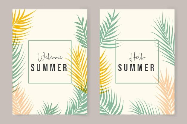 Collezione di copertine estive minimaliste