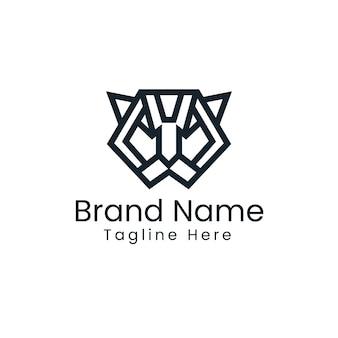 Logo minimalista della tigre - logo geometrico della tigre
