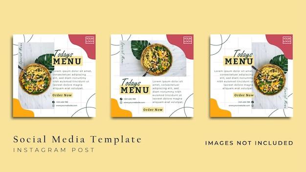 Volantino di cibo vegano minimalista o banner per social media vettore premium