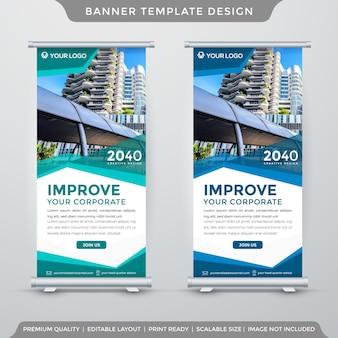 Stile pulito modello minimalista x banner