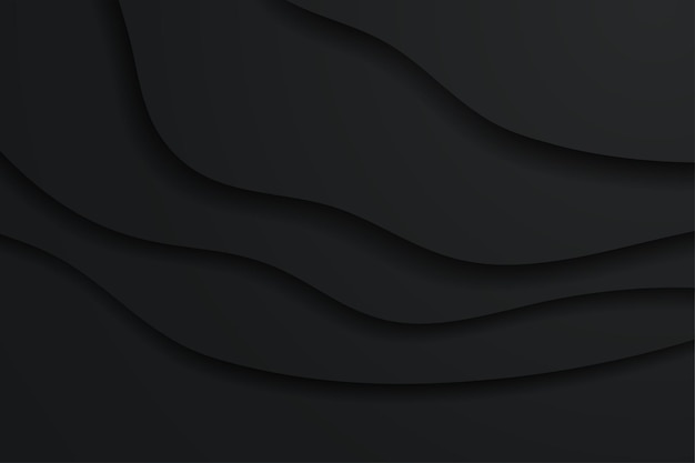 Sfondo nero minimalista in stile carta