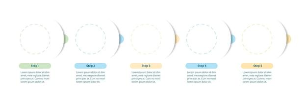 Diagramma di flusso minimalista con modello di infografica frecce