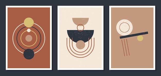 Poster da parete arte geometrica minimalista.