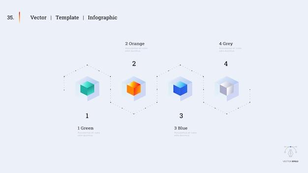 Diapositiva di presentazione infografica minimalista