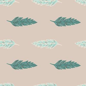 Modello senza cuciture di foglie minimaliste su sfondo rosa chiaro. carta da parati floreale contemporanea. per il design del tessuto, la stampa tessile, il confezionamento, la copertina. illustrazione vettoriale.