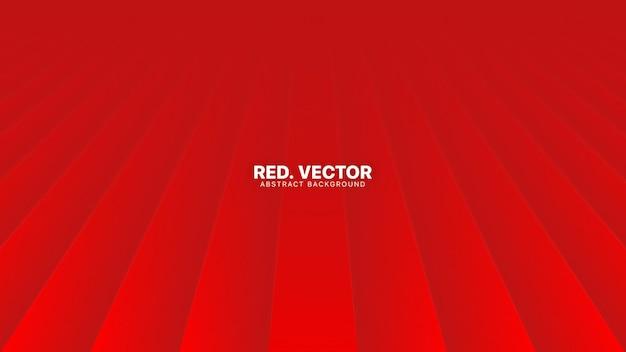 Sfondo sfocato astratto rosso minimalista con linee in prospettiva