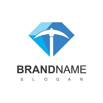Mining logo design template vector illustration