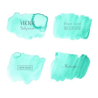 Fondo dell'acquerello menta, logo acquerello pastello