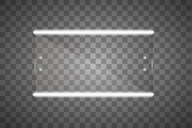 Specchio isolato con luci. illustrazione
