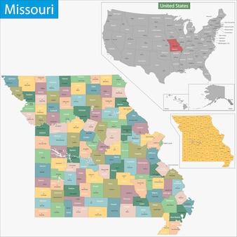 Mappa del missouri