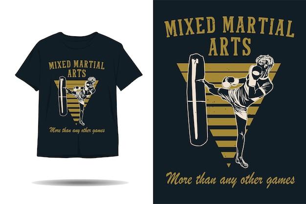 Arti marziali miste più di qualsiasi altro design di magliette silhouette di giochi