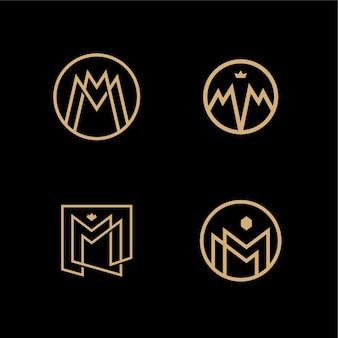 Mm lettermark monogram circle round vector logo