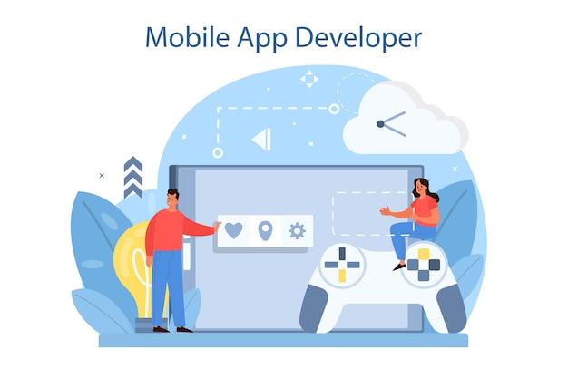 Concetto di sviluppo di app per dispositivi mobili.
