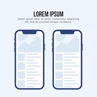 Modello di mock up per app mobile
