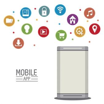 Illustrazione di app e tecnologia mobile