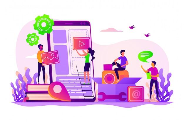 Concetto di sviluppo di applicazioni mobili.
