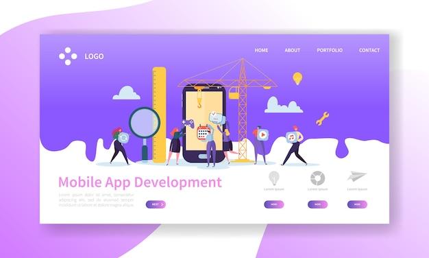 Pagina di destinazione per lo sviluppo di applicazioni mobili