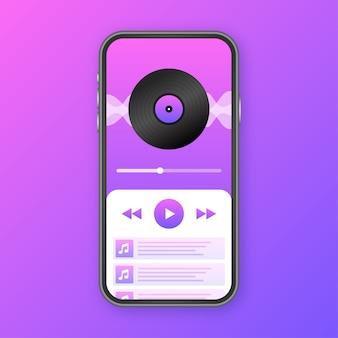 Illustrazione dell'interfaccia dell'applicazione mobile