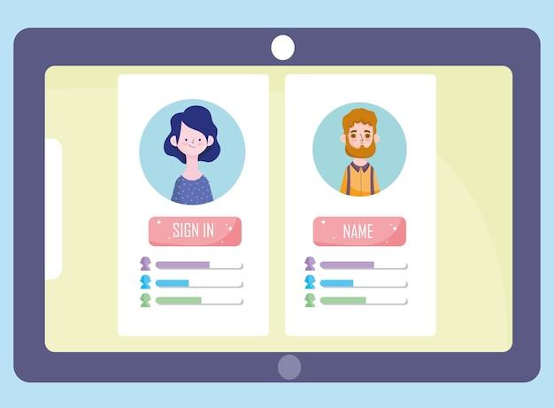 Avatar mobile e valutazione
