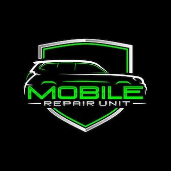 Logo di riparazione auto mobile
