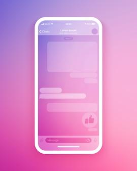 Modello di interfaccia utente dell'app di chat mobile