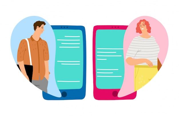 Concetto di chat mobile