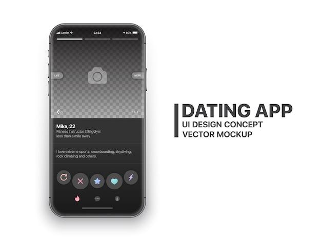 Vettore di tinder app mobile dating