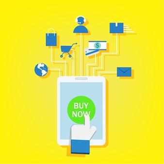 Marketing mobile, e-marketing, e-commerce, negozio online, app store