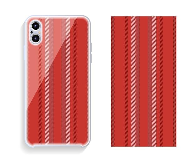 Design della cassa del telefono cellulare. modello vettoriale custodia per smartphone.