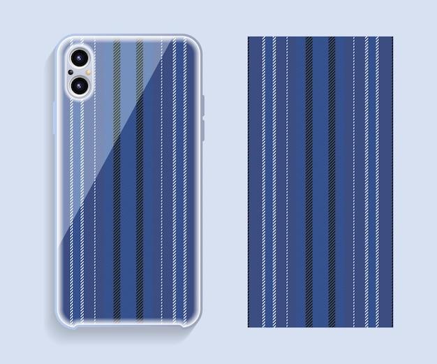Design della copertura del telefono cellulare. modello vettoriale custodia per smartphone.