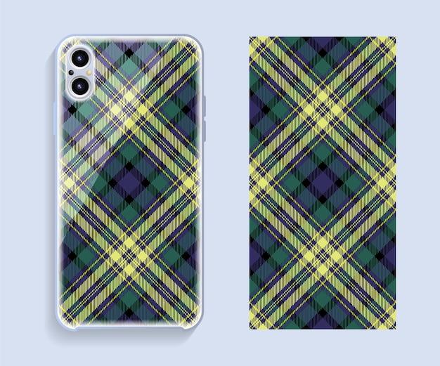 Design della copertura del telefono cellulare. modello di custodia per smartphone modello.