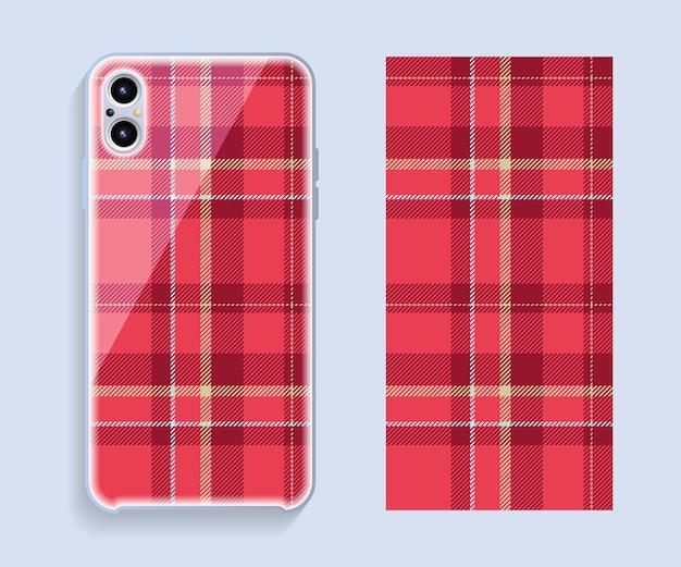 Design della copertura del telefono cellulare. modello di vettore di caso smartphone modello.