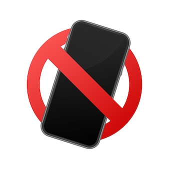 Telefono cellulare vietato. nessun segno di cellulare.