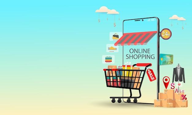 Telefono cellulare per lo shopping online