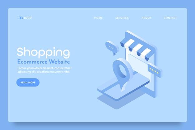 Pagina di destinazione dell'applicazione per lo shopping mobile