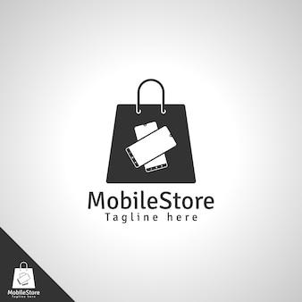 Negozio di telefonia mobile o modello di logo del negozio di cellulari