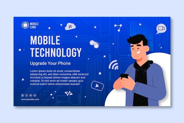 Modello di banner tecnologia mobile