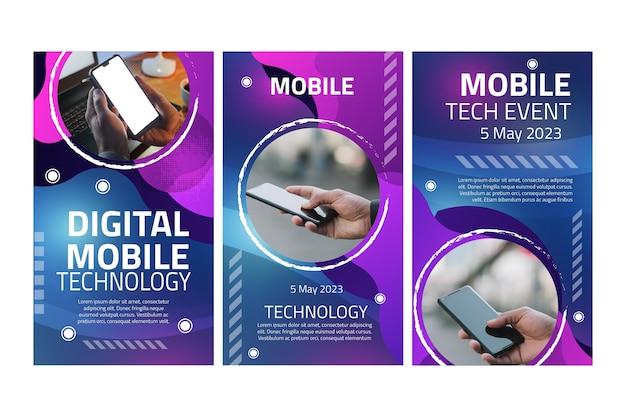 Storie di instagram di tecnologia mobile