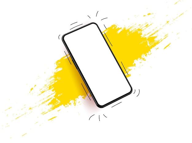 Wireframe modello mobile per lo sviluppo di app illustrazione 3d realistica.