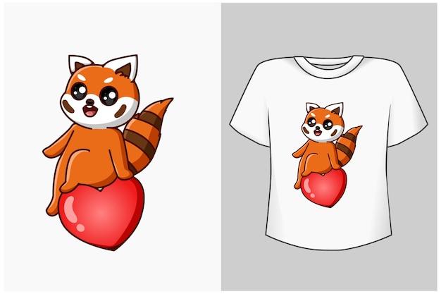 Simpatico gatto mockup con cartone animato lettera d'amore