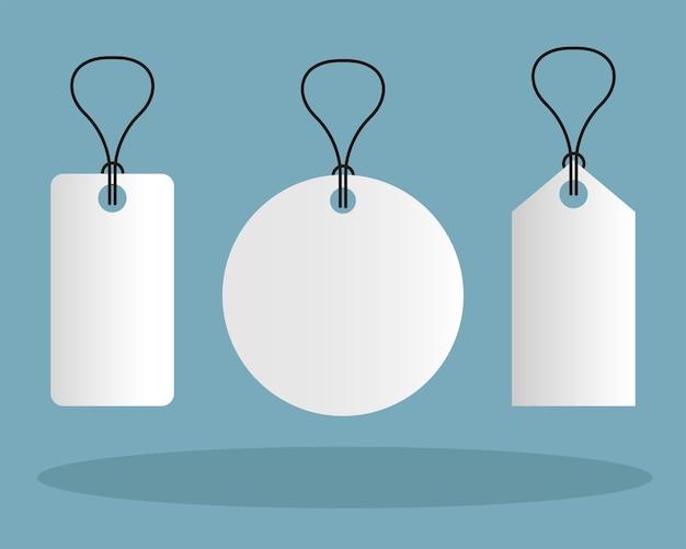 Mockup etichette tag design del modello di identità aziendale e tema del marchio